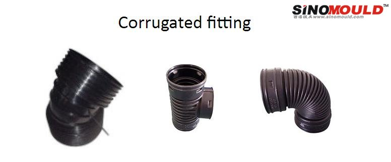 Corrugated pipe fitting molding solution cnmould
