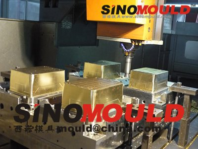 4-cavity crate injection mould