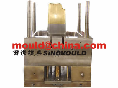 industrial garbage bin mould 240L with core top moldmax inserted