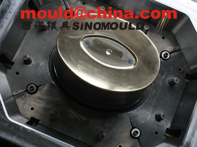 painting bucket mould core with copper-be inserted