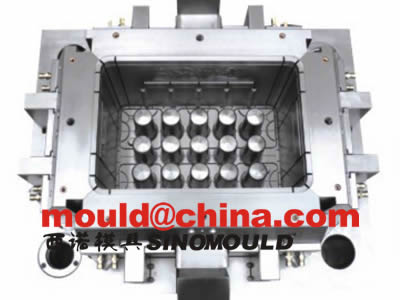bottle crate mould cavity side pictures
