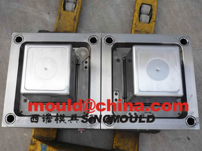 box mould 2 cavities with PP transparent injection molding 1