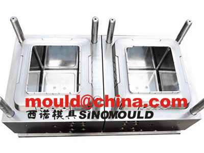 box mould 2 cavities with PP transparent injection molding