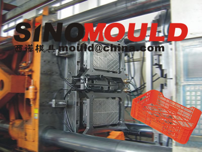 crate mould 2 cavities on machine