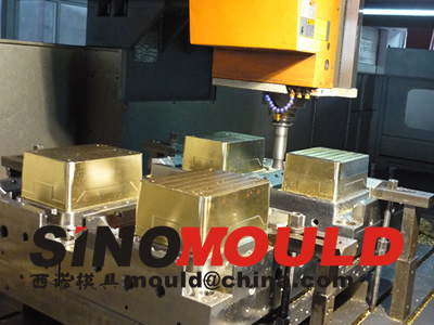 crate mould 4 cavities machining_3