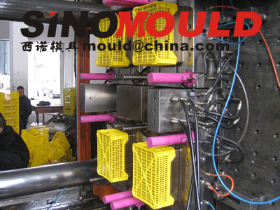 crate mould 4 cavities mould testing picture 2