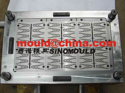 48 cavities plastic clip mould